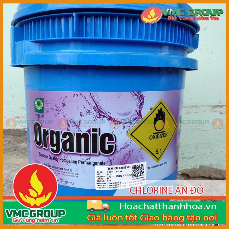 Clorin Ấn Độ Organic thùng 50kg